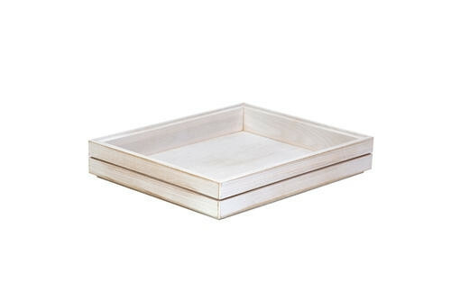 Ash 1/2 GN box medium stackable 32,5 x 26,5 x 4(h) cm