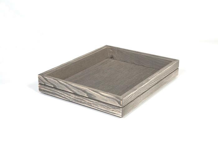 Driftwood 1/2 GN box medium stackable 32,5 x 26,5 x 4(h) cm