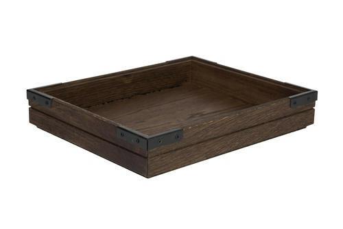 Chestnut 1/2 GN box medium stackable 32,5 x 26,5 x 4(h) cm
