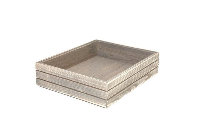 Driftwood 1/2 GN box high stackable 32,5 x 26,5 x 8(h) cm