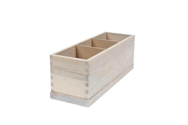 Ash cutlery box 3 - vaks 36,5 x 12,5 x 13(h) cm