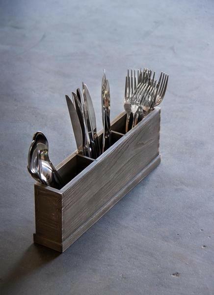 Driftwood cutlery box 3 - vaks 36,5 x 6 x 13(h) cm