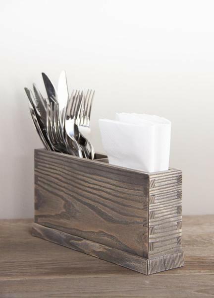 Driftwood cutlery box 2 - vaks 26 x 6 x 13(h) cm
