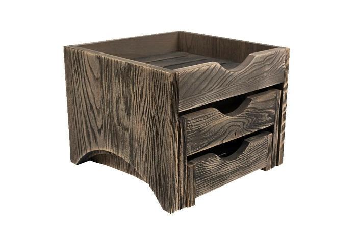 Driftwood mini 3 tray display stand 28,5 x 28 x 22(h) cm