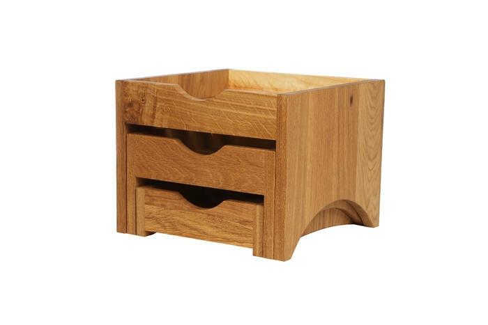 Oak linoil mini 3 tray display stand 28,5 x 28 x 22(h) cm