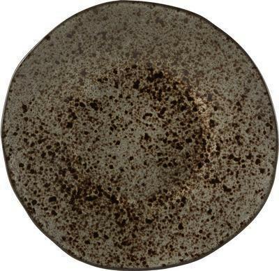 Q Authentic Stoneblack bord plat 16 cm