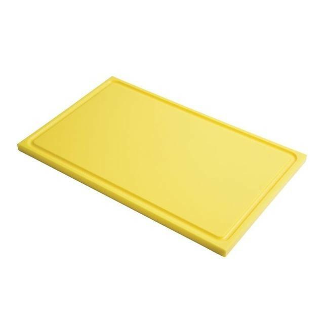 Gastro M HDPE snijplank GN 1/2 geel met sapgeul