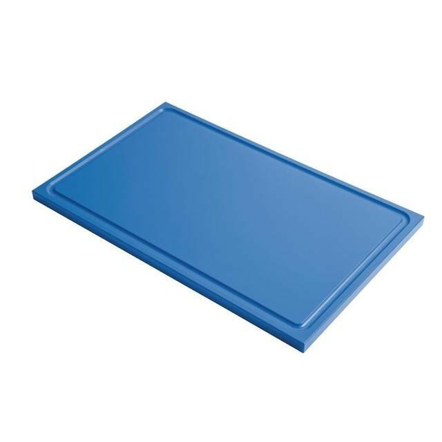 Gastro M HDPE snijplank GN 1/1 blauw met sapgeul