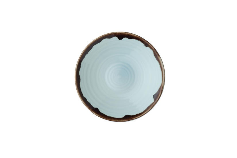 Dudson Harvest Turquoise organic coupe bowl 21 cm