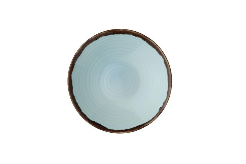 Dudson Harvest Turquoise organic coupe bowl 25 cm