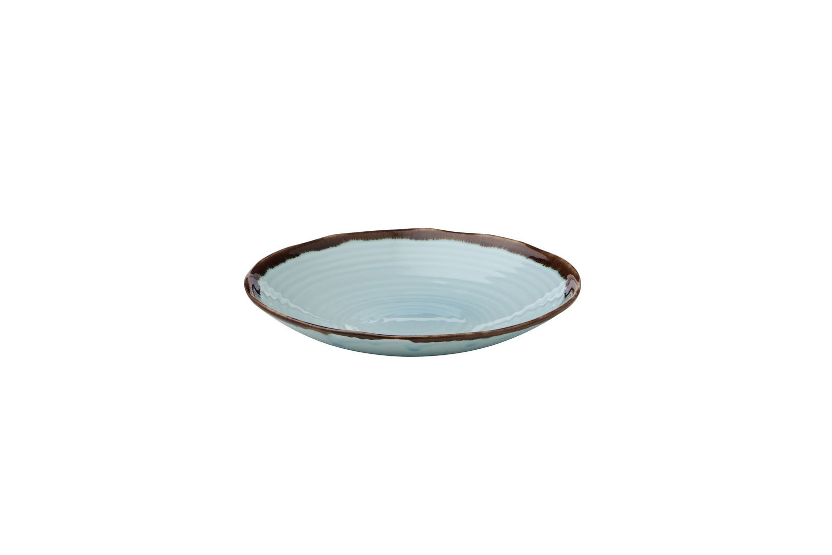 Dudson Harvest Turquoise organic coupe bowl 27,9 cm