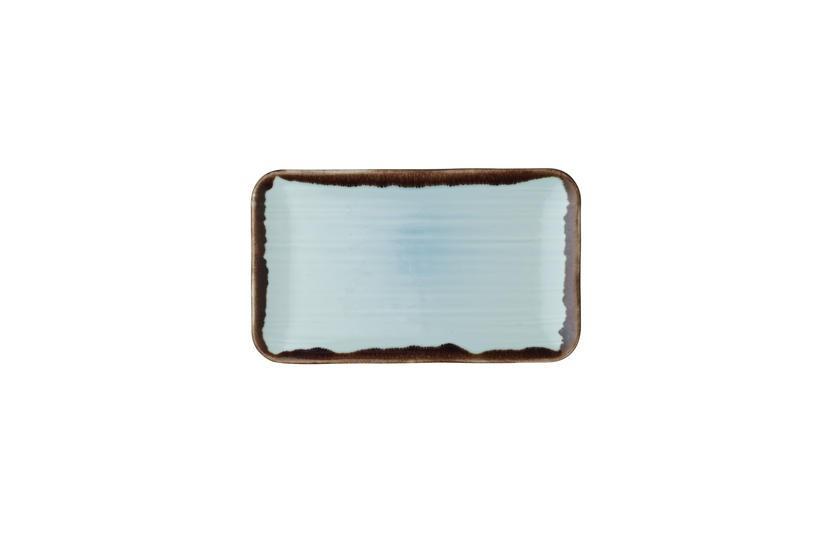 Dudson Harvest Turquoise organic rectangular plate 27 x16 cm