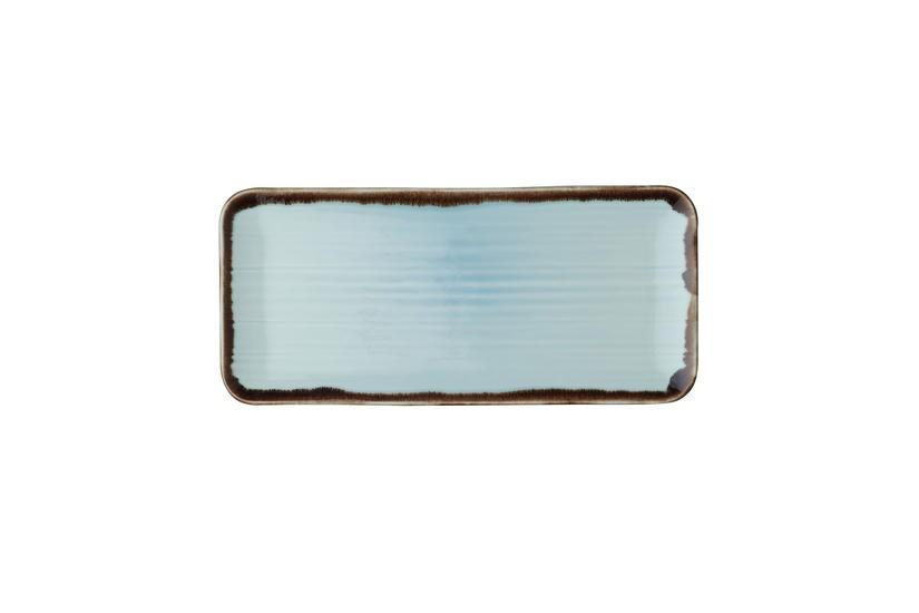 Dudson Harvest Turquoise organic rectangular plate 34,6 x 15,6 cm