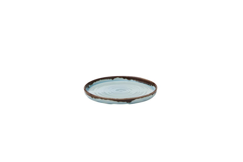 Dudson Harvest Turquoise organic walled plate 21 cm