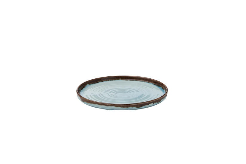 Dudson Harvest Turquoise organic walled plate 26 cm