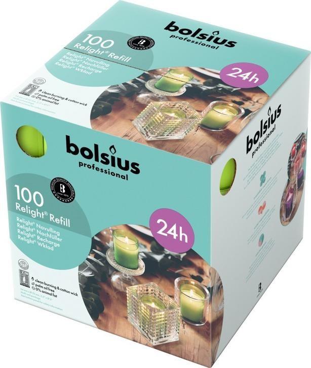 Bolsius ReLight Refill lemon 24 uur DOOS 100