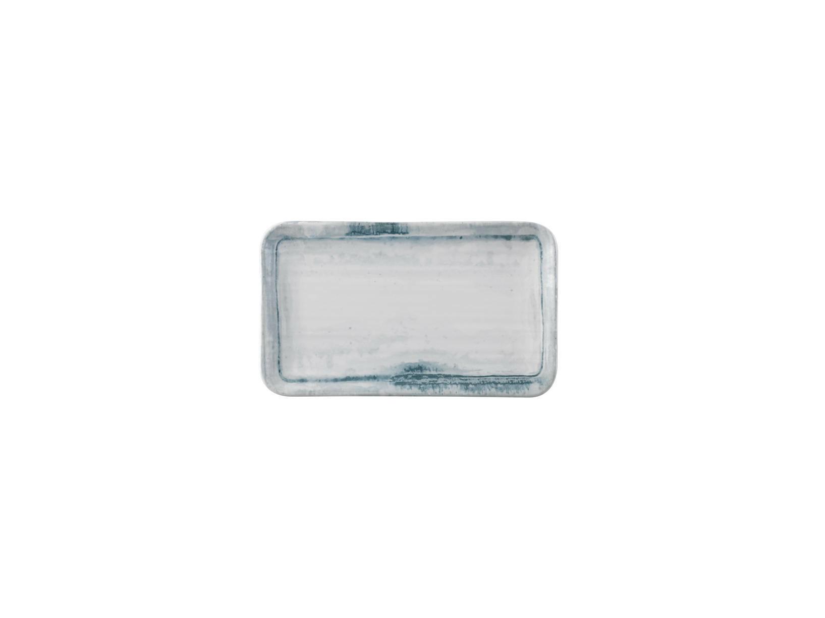 Dudson Finca Limestone organic rectangular plate 27 x 16 cm