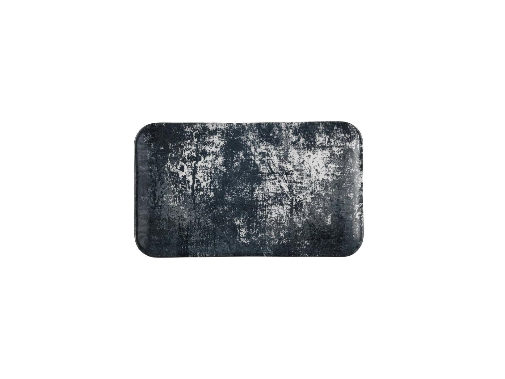 Dudson Urban Lamp Black organic rectangular plate 27 x 16 cm
