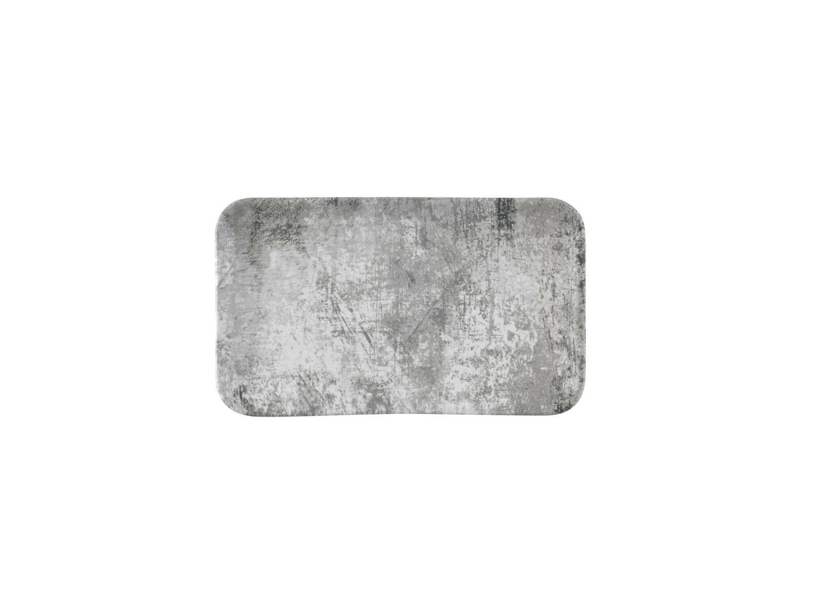 Dudson Urban Steel Grey organic rectangular plate 27 x 16 cm