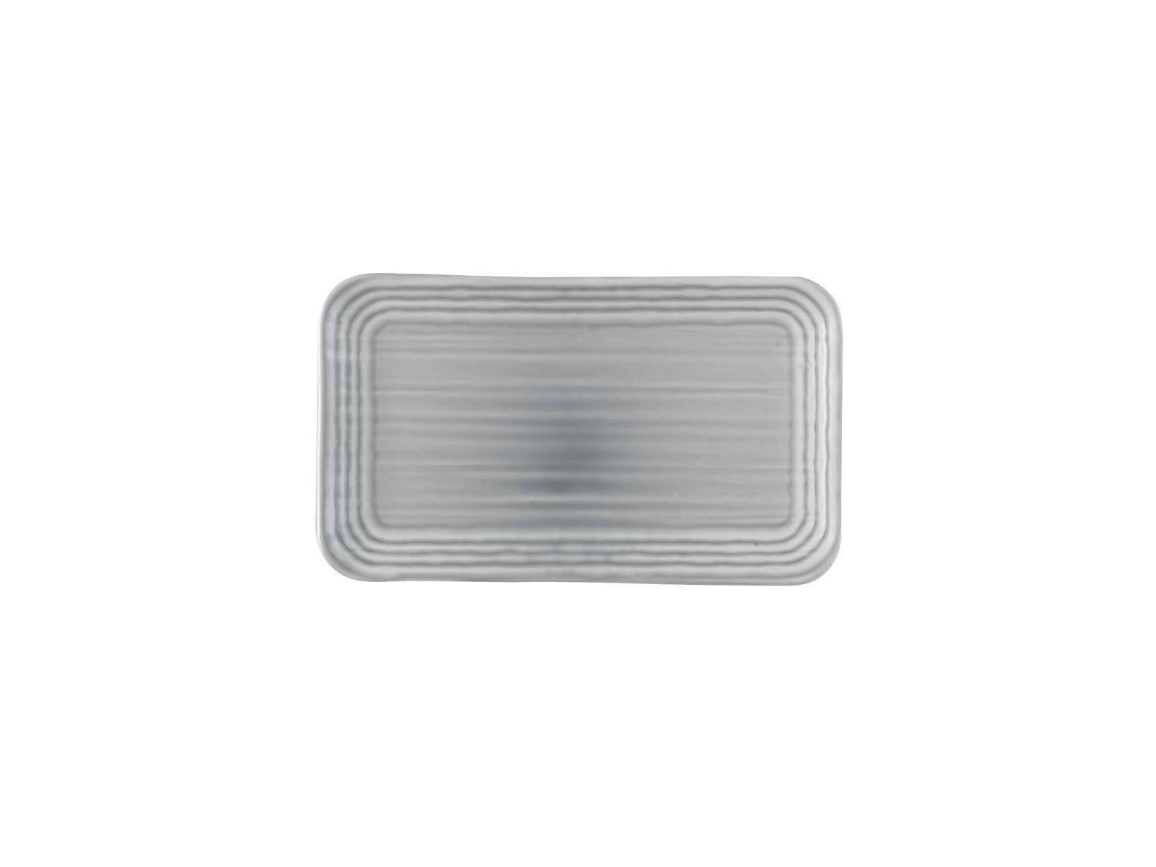 Dudson Harvest Norse Grey organic rectangular plate 27 x 16 cm