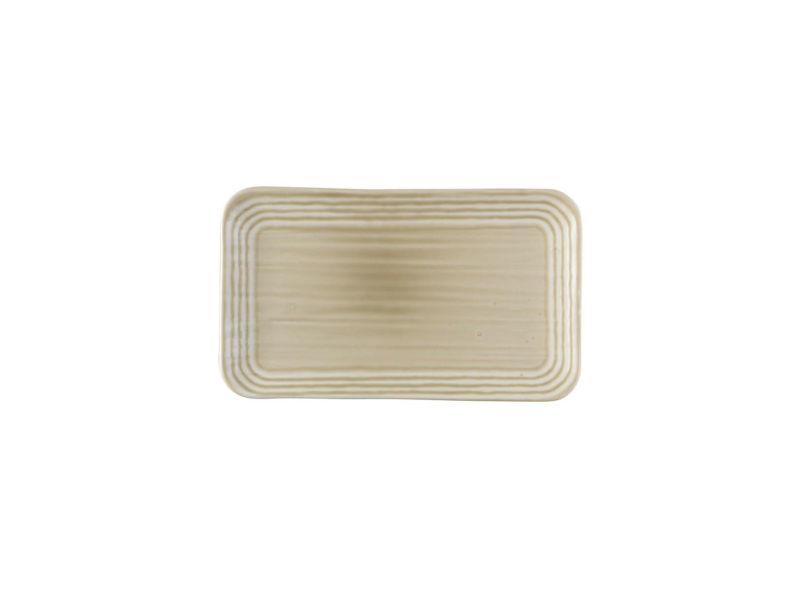Dudson Harvest Norse Linen organic rectangular plate 27 x 16 cm
