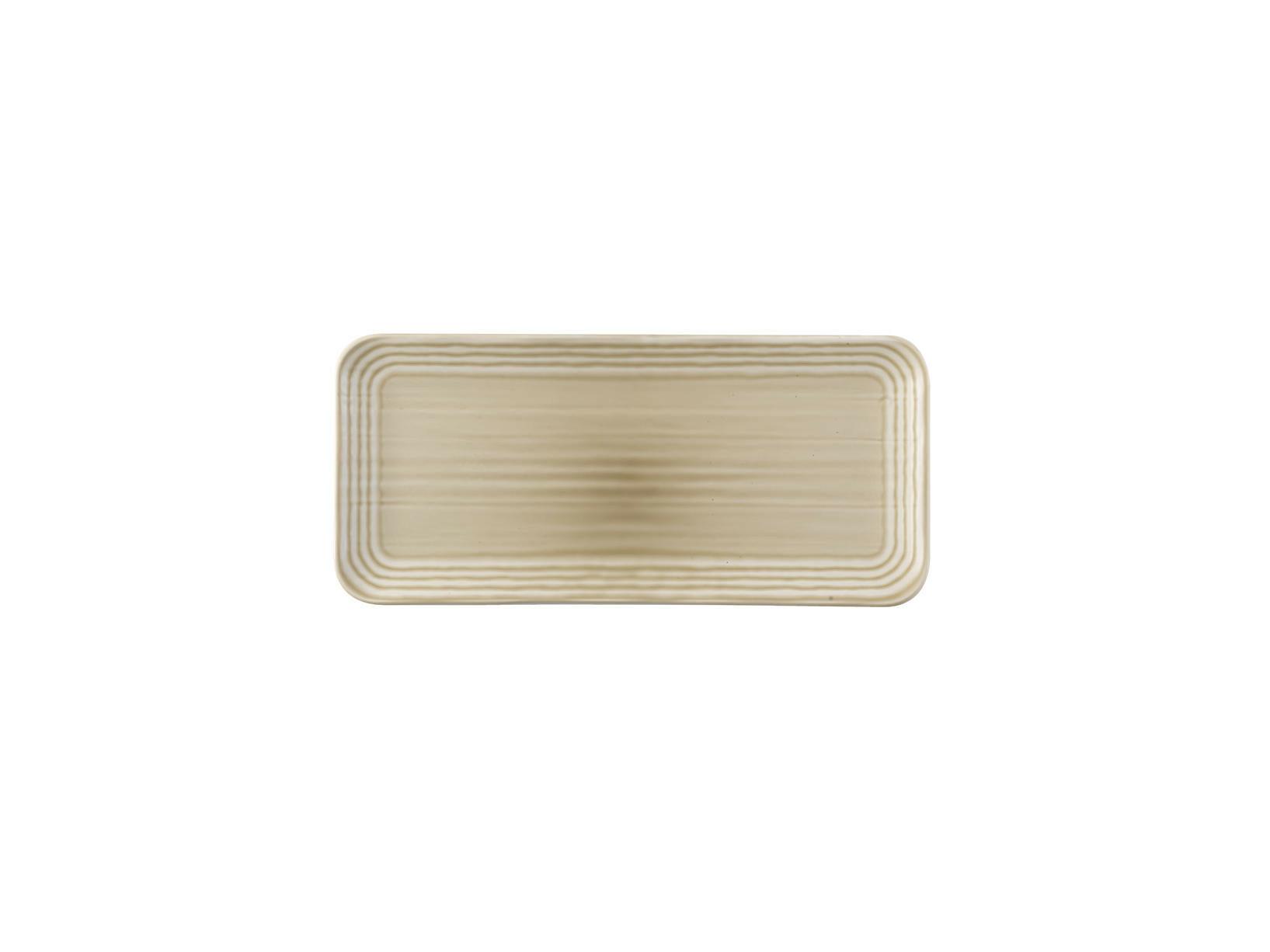 Dudson Harvest Norse Linen organic rectangular plate 34,6 x 15,6 cm
