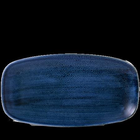 Stonecast Plume Ultramarine chef`s oblong plate 35,5 x 18,9 cm