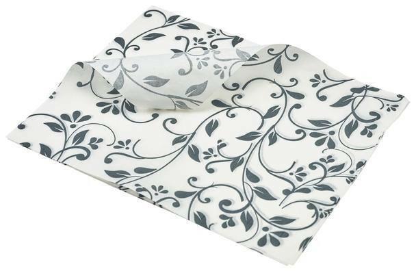 vetvrij papier bloem motief grijs 25 x 20 cm DOOS 1000