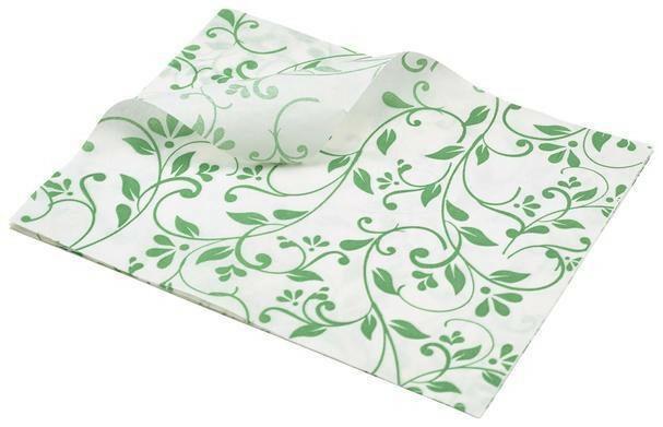 vetvrij papier bloem motief groen 25 x 20 cm DOOS 1000