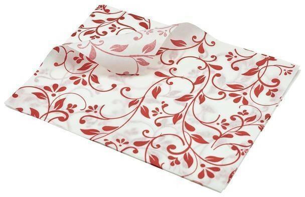 vetvrij papier bloem motief rood 25 x 20 cm DOOS 1000