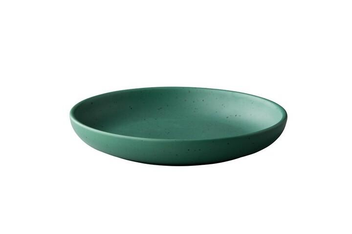 Q Authentic Tinto bord rond diep mat groen 23,5 cm