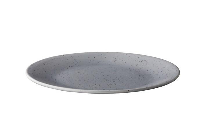 Q Authentic Tinto bord rond mat grijs 28 cm