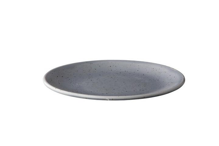 Q Authentic Tinto bord rond mat grijs 22,5 cm