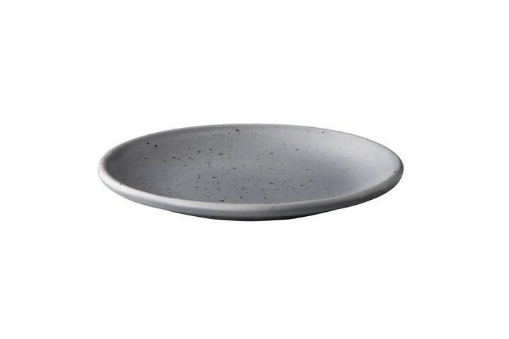 Q Authentic Tinto bord rond mat grijs 15 cm