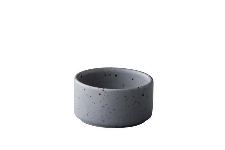 Q Authentic Tinto saustipje stapelbaar mat grijs 6 cl
