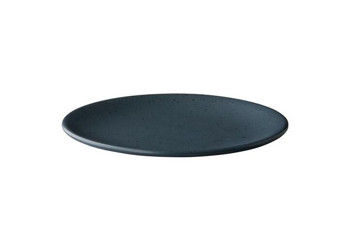 Q Authentic Tinto bord rond mat donkergrijs 22,5 cm