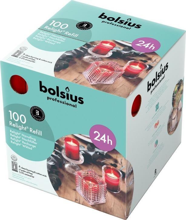 Bolsius ReLight Refill rood 24 uur DOOS 100
