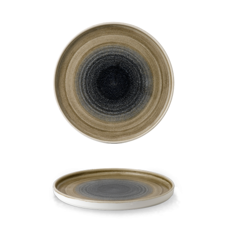 Stonecast Aqueous Bayou walled chef`s plate 26 cm