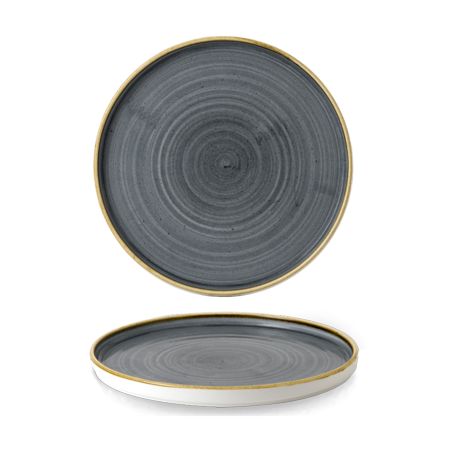 Stonecast Blueberry walled chef`s plate 26 cm