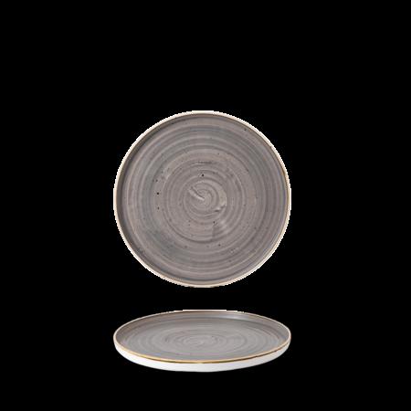 Churchill Peppercorn Grey walled chef`s plate 15,7 cm