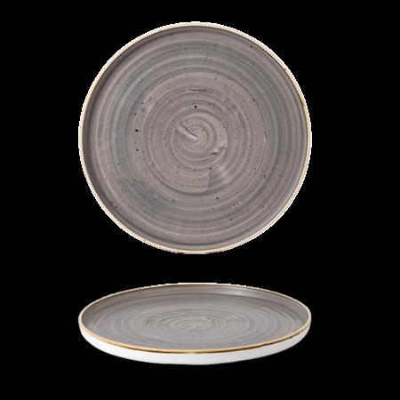 Churchill Peppercorn Grey walled chef`s plate 27,5 cm