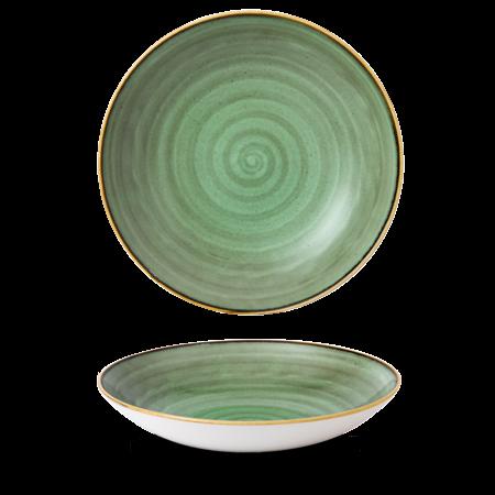 Stonecast Samphire Green coupe bowl 31 cm