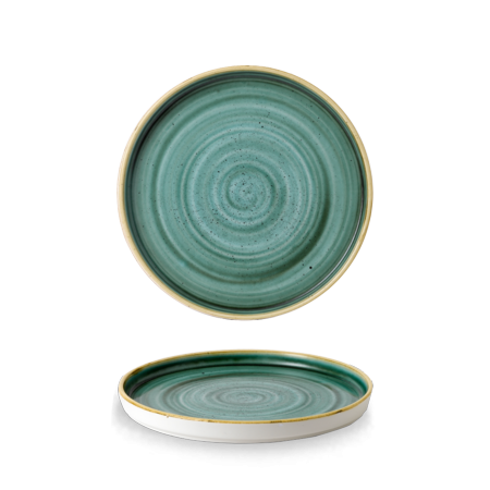 Stonecast Samphire Green walled chef`s plate 21 cm