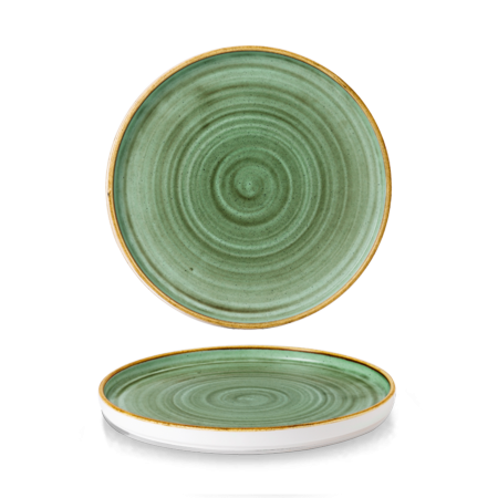 Stonecast Samphire Green walled chef`s plate 26 cm