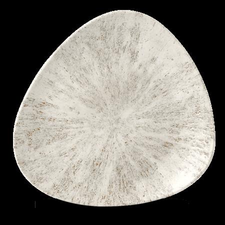 Studio Prints Raku Stone Agate Grey triangle bord 26,5 cm