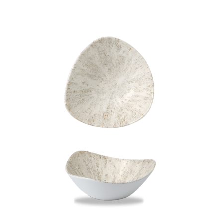 Studio Prints Raku Stone Agate Grey triangle bowl 18,5 cm