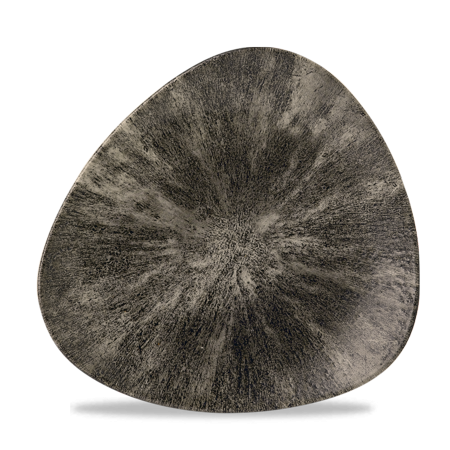 Studio Prints Raku Stone Quartz Black triangle bord 22,9 cm