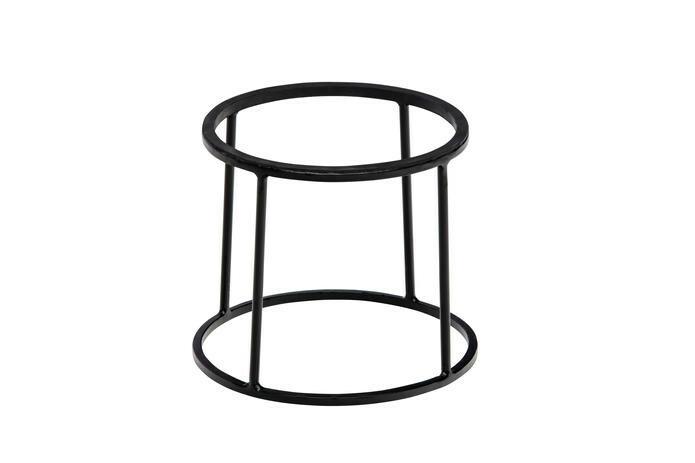 buffetstandaard Base metaal zwart met anti-slip Ø 22/24 x 20(h) cm