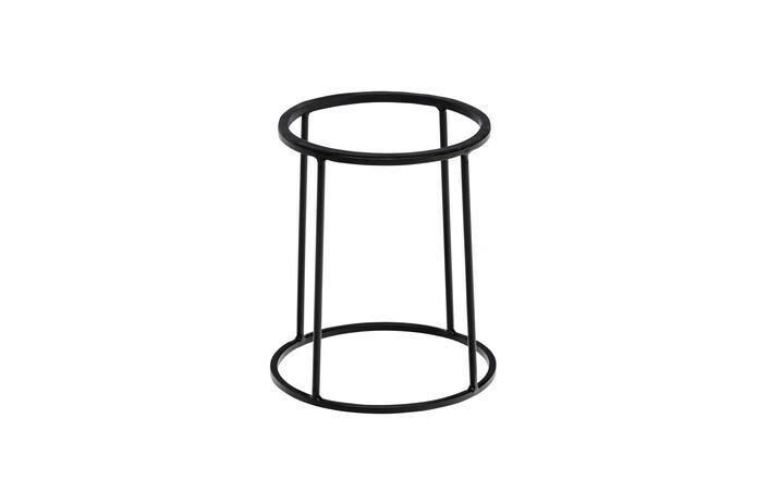 buffetstandaard Base metaal zwart met anti-slip Ø 22/24 x 28(h) cm