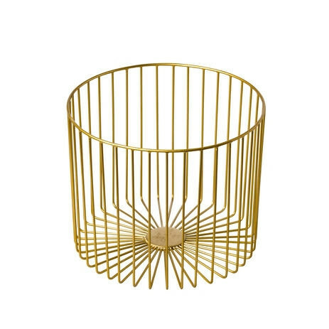 presentatiemand metaal Elements goud Ø 28 x 23(h) cm